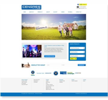 Cengres Tiles Website Design