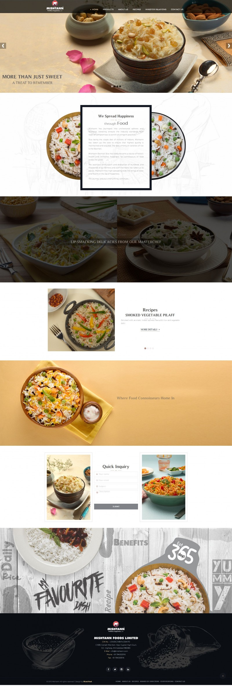 Mishtann Website Design